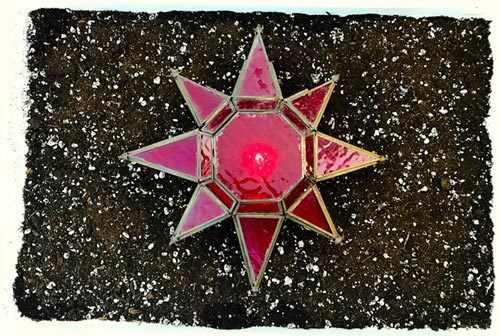 red glass star